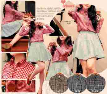 Tartan Shirt with Leather Elbow Patch - ecer@59rb - seri4w 212rb - bhn katun bangkok (adem) - fit to L