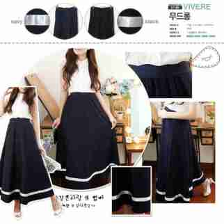 White Circular with Scallop Waist Skirt - ecer@64rb - seri4pcs 232rb - thick twistcone + blkg karet - fit to L