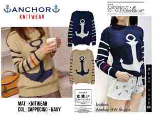 Anchor Knitwear - ecer@55rb - seri4pcs 200rb - rajut - fit to L