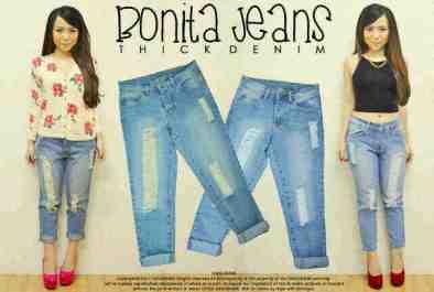 Bonita Jeans - ecer@82 - seri4pcs (2wrn 2uk) 308rb - bahan jeans asli - uk M&L