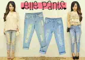 Elle Jeans - ecer@81rb - seri4pcs 300rb - jeans - fit to L