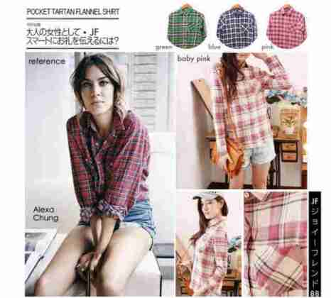 Flannel Shirt with Pocket - ecer@76rb - seri4w 280rb - bahan Flannel - fit to L