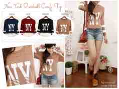 NY Comfy Top - ecer@52rb - seri4w 184rb - spandex rayon - fit to L