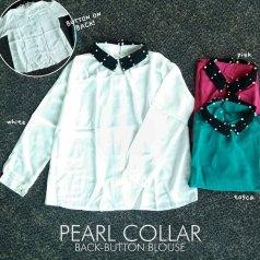 Back-Button Peael Collar - ecer@59rb - seri3w 159rb - twistcone - fit to L