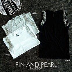 IMPORT! PIN and PEARL Tanktop - ecer@70rb - seri3w 195rb - bhn cotton+aplikasi - fit to L