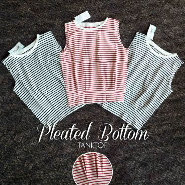 Pleated Bottom Tanktop - ecer@60rb - seri3w 165rb -kaos spandex - fit to L