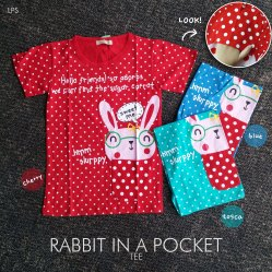 Rabbit In Pocket Tee - ecer@40 - seri3w 105rb - kaos - fit to L