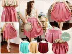 Velvet Sweet Midi Skirt - ecer@62 - seri4w 224rb -bhn velvet lembut (impor) ada karet - fit to L