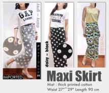 IMPORT! BKK Maxi Skirt - ecer@104 - seri3motif 297rb - bhn kaos tebal - fit to L