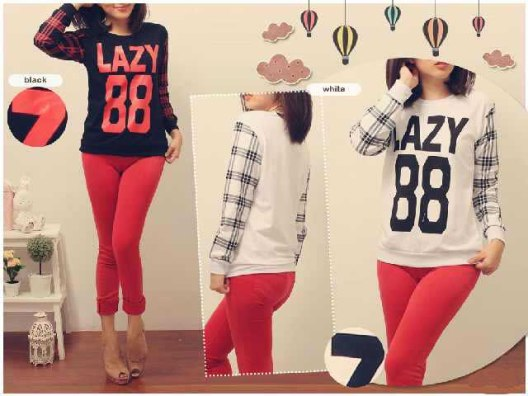 Lazy88 Pullover - ecer@50rb - seri4pcs 180rb - babyterry - fit to XL