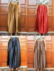 Sateen Velvet Maxi Skirt - ecer@74rb - seri4w 280rb - satin - fit to L