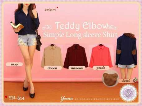 Teddy Elbow Shirt - ecer@56rb - seri4w 204rb - twiscone - fit to L