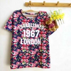 Establish 1967 Floral Top (Navy) - ecer@55rb - seri4w 200rb - wedges - fit to L