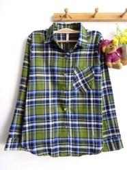 Mexico Tartan Shirt (green) - ecer@83rb - seri4w 312rb - flanel - fit to L