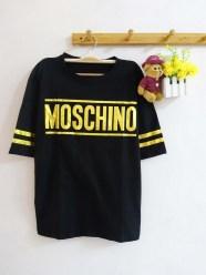 Moschino Gold Baseball Tee - ecer@50rb - seri4pcs 180rb - kaos+print foil - fit to XL