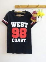 West Coast 98 Baseball Tee (black) - ecer@45rb - seri4pcs(2warna) 160rb - kaos - fit to L