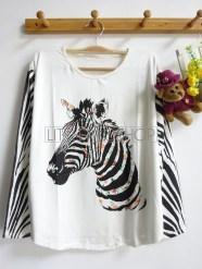 Femme Zebra Tee (white) - ecer@55rb - seri4pcs (2white 2cream) 200rb - spandex - fit to L