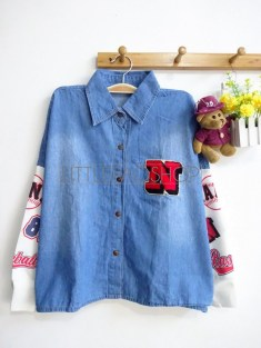 N Baseball Loose Shirt (Dark) - ecer@85rb - seri4pcs(2warna) 320rb - jeans+babyterry + huruf N aplikasi bulu - fit to XL.JPG