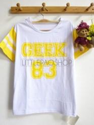Rainbow GEEK 83 Tee (yellow) - ecer@45rb - seri3w 120rb - kaos - fit to L