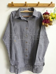 Shabby Tartan Loose Shirt (black) - ecer@76rb - seri4w 284rb - flanel tebal - fit to XL