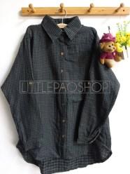 Shabby Tartan Loose Shirt (dark green) - ecer@76rb - seri4w 284rb - flanel tebal - fit to XL