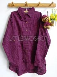 Shabby Tartan Loose Shirt (red) - ecer@76rb - seri4w 284rb - flanel tebal - fit to XL