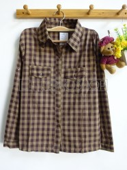 Uncle Jack Plaid Shirt (brown) - ecer@65rb - seri4w 240rb -katun bangkok - fit to L