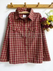 Uncle Jack Plaid Shirt (red) - ecer@65rb - seri4w 240rb -katun bangkok - fit to L