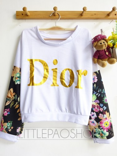 Crop Dior Pullover (black) - ecer@68rb - seri4w 256rb - babyterry + wedges - fit to L
