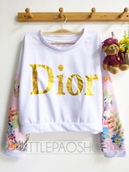 Crop Dior Pullover (pink) - ecer@68rb - seri4w 256rb - babyterry + wedges - fit to L
