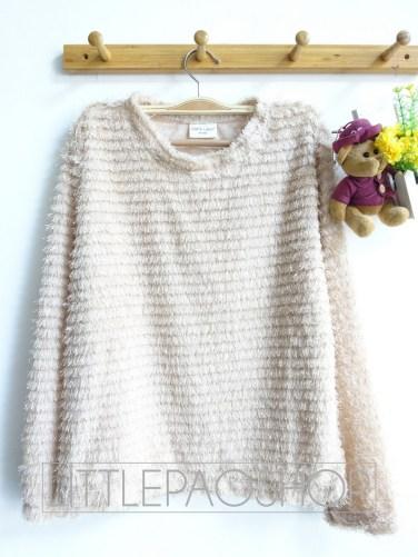 [IMPORT] Pastel Fur Sweater (cream) - ecer@85rb - seri3w 240rb - rajut+bulu - fit to L