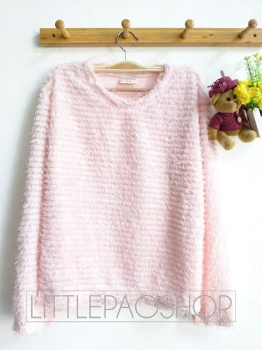 [IMPORT] Pastel Fur Sweater (pink) - ecer@85rb - seri3w 240rb - rajut+bulu - fit to L