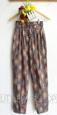 Kintamani Comfy Pants (brown) - ecer@68rb - seri4w 252rb - katun stretch tebal - fit to ukuran 30