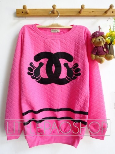 Mickey Chanel Pillow Sweater (pink) - ecer@65rb - seri3w 180rb - wedges pillow - fit to XL