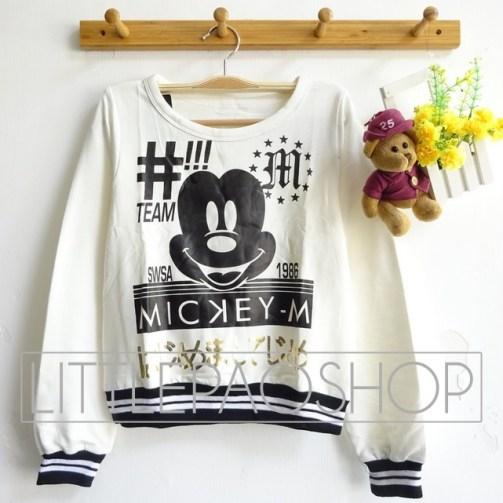MickeyM Sweatshirt - ecer@63rb - seri4pcs(2warna) 232rb - babyterry - fit to L