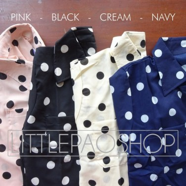 Polka Tie Shirt Detail