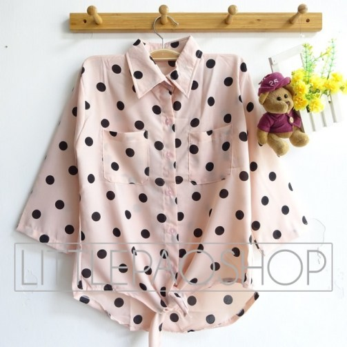 Polka Tie Shirt - ecer@63rb - seri4w 232rb - victory - fit to L