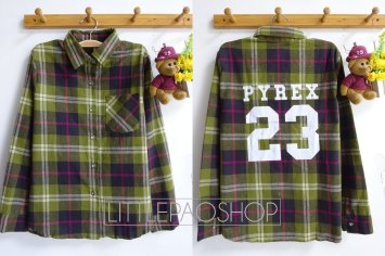 PYREX23 Flannel Shirt (green) - ecer@85rb - seri4pcs(2green 2red) 320rb - flannel tebal - fit to L