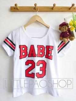 Triple Line BABE Baseball Tee (white)- ecer@46rb - seri4pcs(2warna) 164rb - kaos - fit to L
