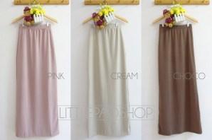 Basic Span Skirt - ecer@72rb - seri3w 201rb - wedges tebal - fit to L
