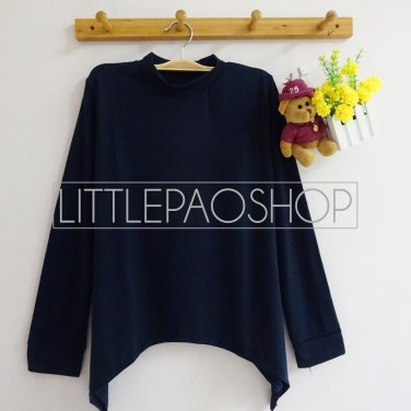 High Neck Layer Top (navy) - ecer@50rb - seri2w 90rb - spandex - fit to L