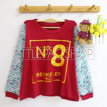 No.8 BerkHills Top (maroon) - ecer@60rb - seri4w 220rb - spandex + wedges - fit to L