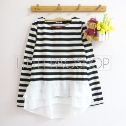 Stripey Candy Top (black) - ecer@78rb - seri4w 292rb - wedges + ceruti - fit to L