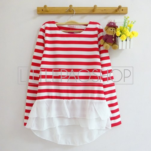 Stripey Candy Top (red) - ecer@78rb - seri4w 292rb - wedges + ceruti - fit to L