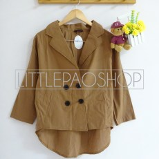 Cambridge HiLo Coat (choco) - ecer@70rb - seri4w 260rb - katunbangkok - fit to L