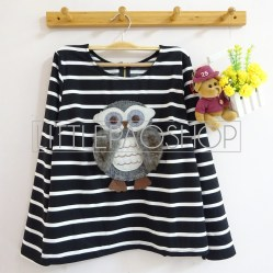 Fluffy Owl Pullover (black) - ecer@74rb - seri4pcs(2white2black) 280rb - wedges - fit to L
