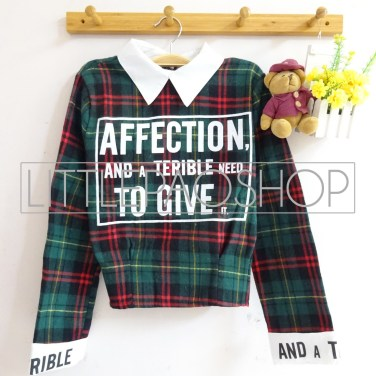 IMPORT - Affection Scotland Shirt (green) - ecer@85rb - seri3w 240rb - flanel - fit to L