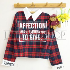 IMPORT - Affection Scotland Shirt (red) - ecer@85rb - seri3w 240rb - flanel - fit to L