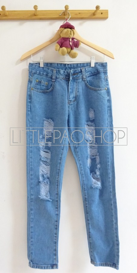 [IMPORT] Blues Ripped Pants (Light) - ecer@110rb - seri3ukuran 315rb - jeans tebal - ukuran 27,28,29