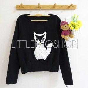 [IMPORT] Classy Fox Sweater (black) - ecer@75rb - seri3w 210rb - wedges tekstur - fit to L